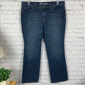 New York & co. Mid rise straight leg blue jeans